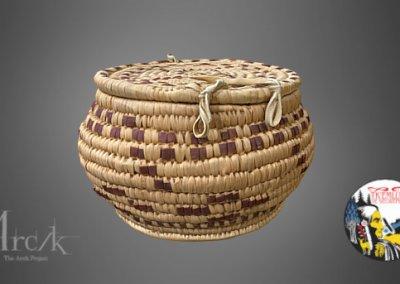 Cedar Root Basket No. 3 of the Secwepemc Museum