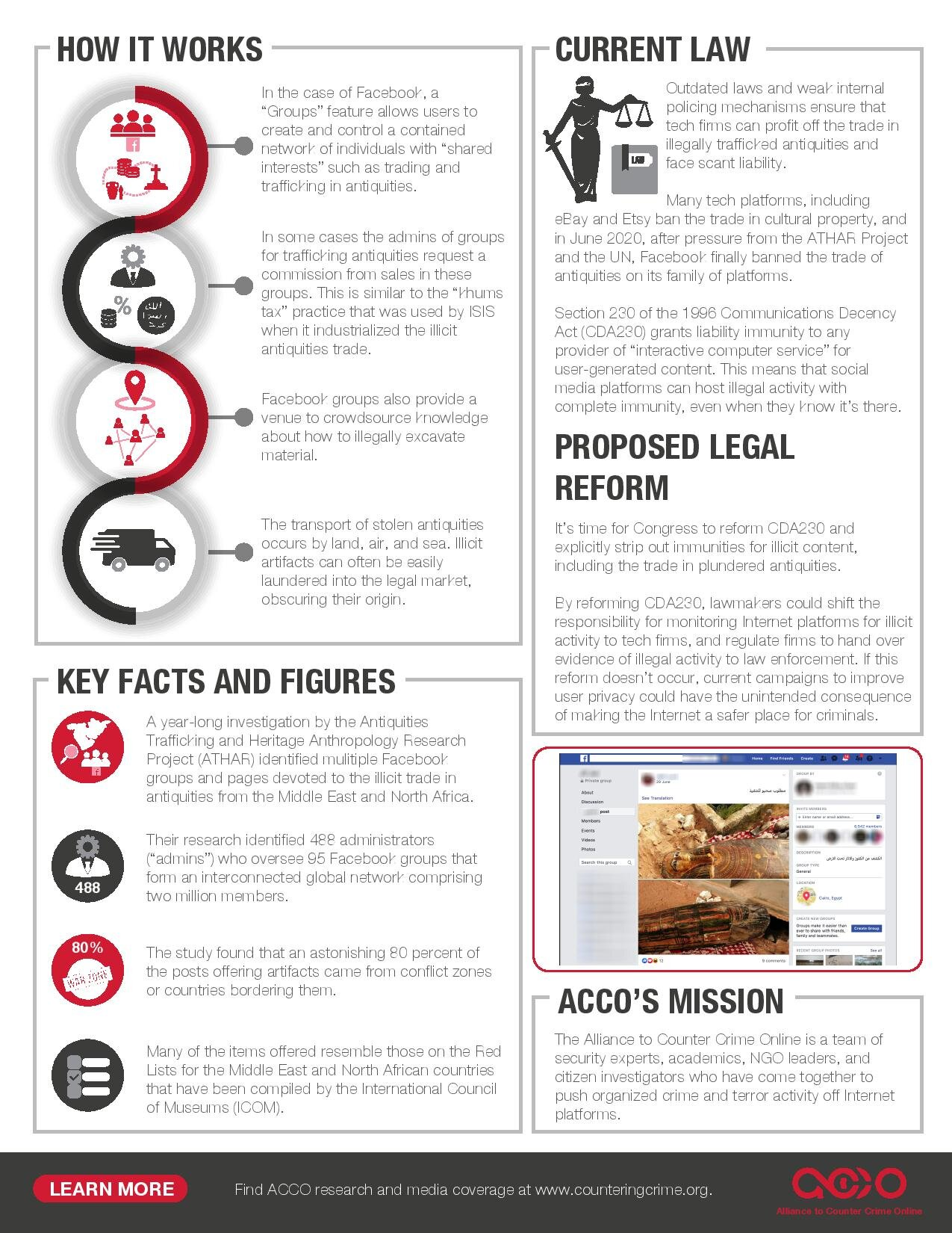 Image: Plundered Heritage: The Antiquities Trade on Social Media, Fact Sheet 2, Alliance to Counter Crime Online