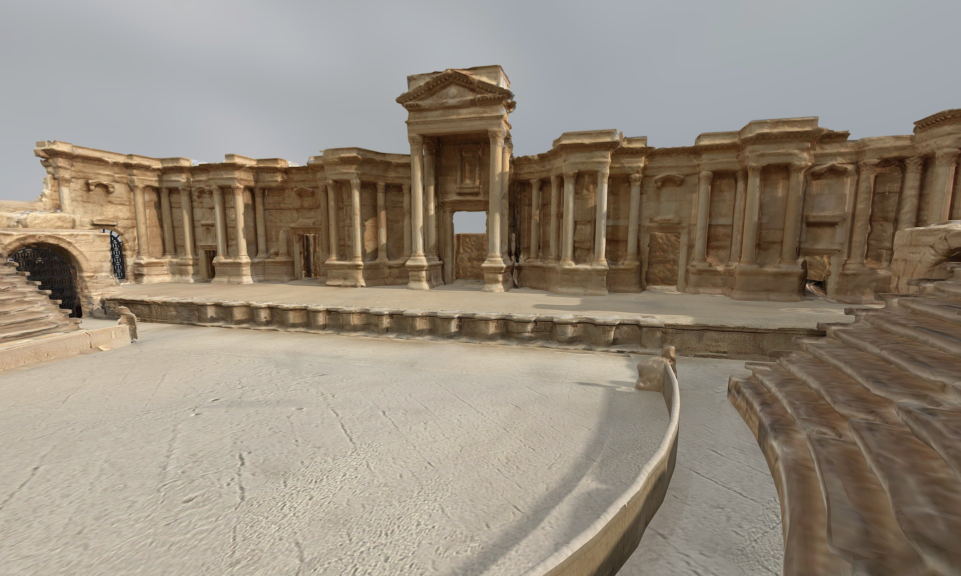 Image: Roman Theatre at Palmyra: Interior, Perpetuity Palmyra, The Arc/k Project. Screenshot of VR.
