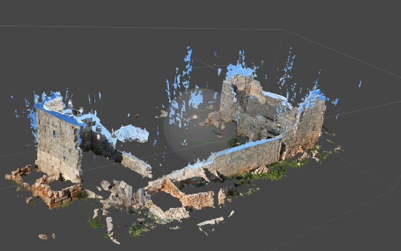 Image: Photogrammetric model of House - Shensherah, Dead Cities, Syria, TDA-HPI.