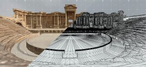Perpetuity   Palmyra by The Arc/k Project consists of several sites: the Temple of Bel, the Arch of Triumph, The Roman Theatre, and the Fakhr-al-Din al-Ma'ani Castle in Palmyra, Syria graphic